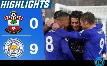 Southampton vs Leicester City 0-9 – All Highlights & Goals